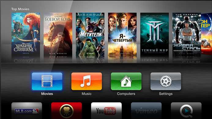 apple tv телевизор виджеты